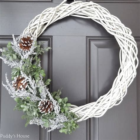Diy Winter Wreaths For Front Door
