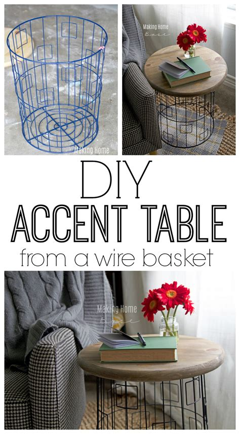 Diy Wire Basket Table Accent