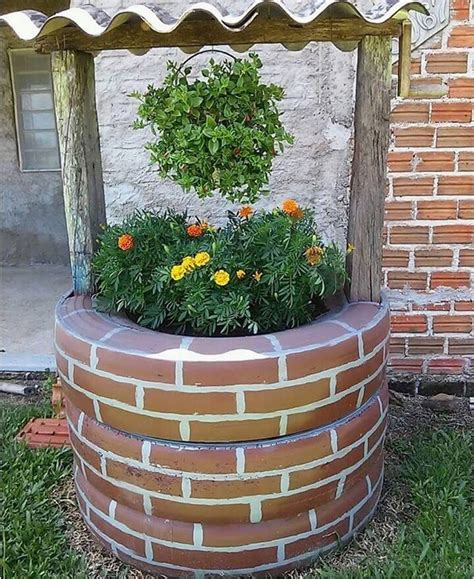 Diy Wishing Well With Tires