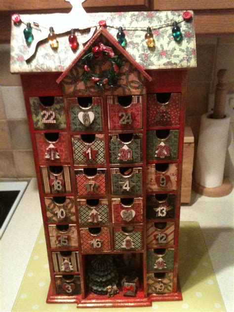 Diy Wood Advent Calendar Ideas