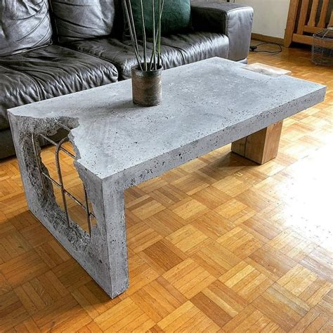 Diy Wood And Concrete Coffee Table