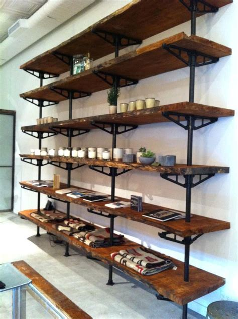 Diy Wood And Metal Shelving Unit