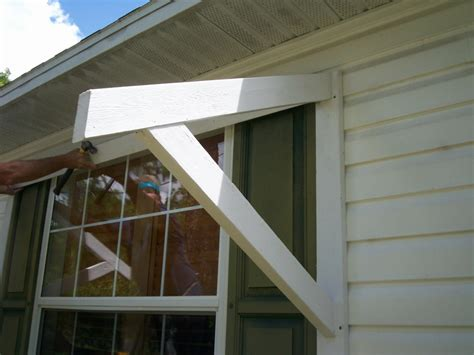 Diy Wood Awning Brackets