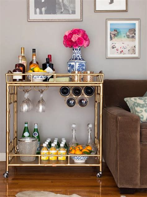 Diy Wood Bar Cart From Vintage Furniture Adding Feet
