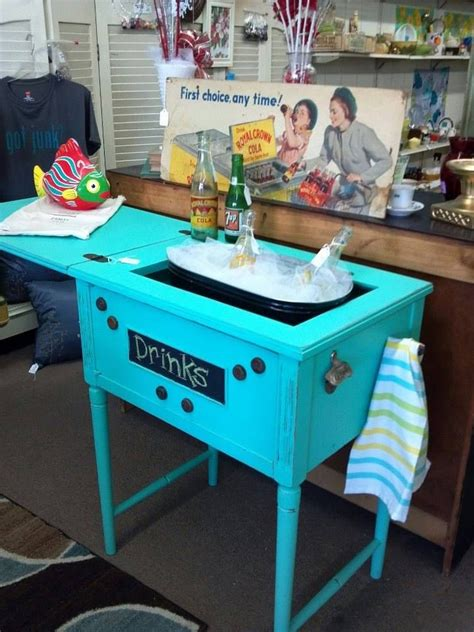 Diy Wood Bar Cart From Vintage Sewing Machine Cabinet