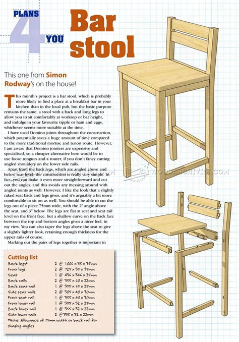 Diy Wood Bar Chair Designs