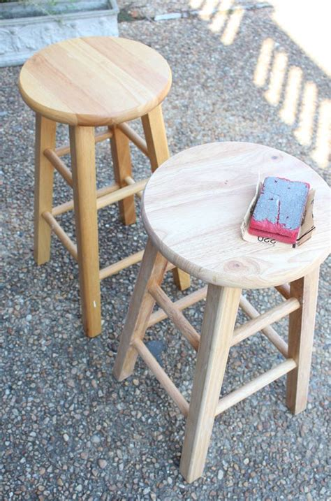 Diy Wood Bar Stool Makeover