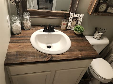 Diy Wood Bathroom Vanity Top