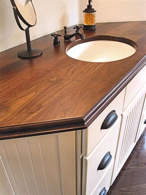 Diy Wood Bathroom Vanity Tops Pinterest
