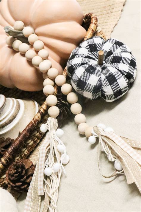 Diy Wood Bead Tassel Ornament