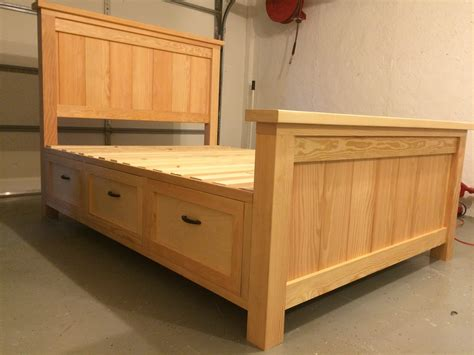 Diy Wood Bed Frame With Drawers