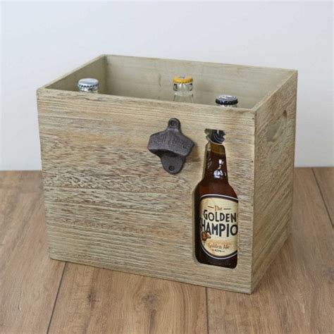 Diy Wood Beer Crate With Fish On Bottom