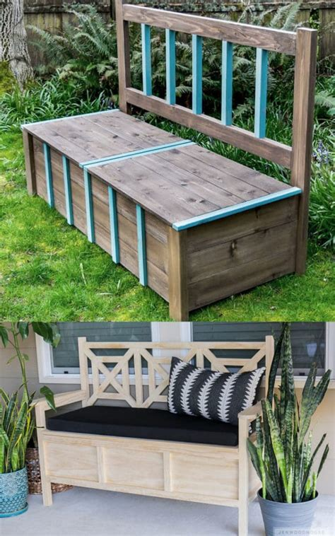 Diy Wood Benches Simple Tire