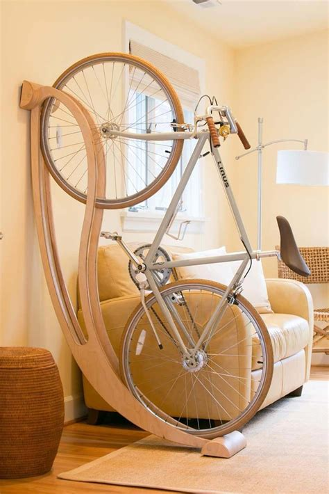 Diy Wood Bike Shelf Rack