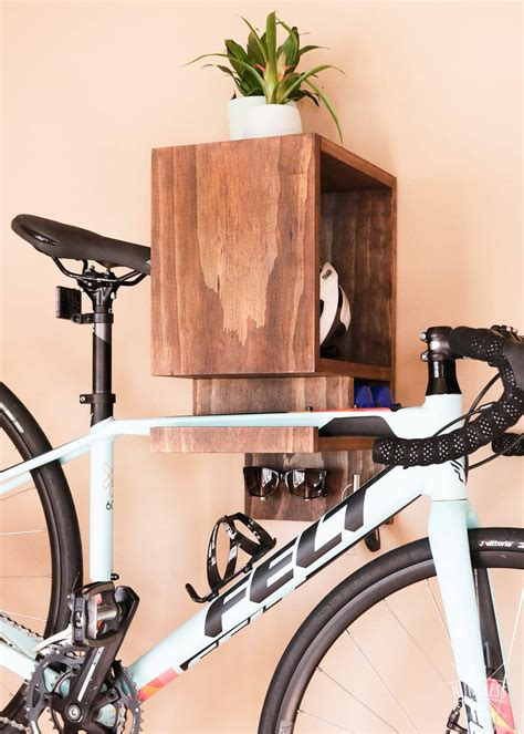 Diy Wood Bike Shelf Wall
