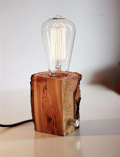 Diy Wood Block Edison Lamp
