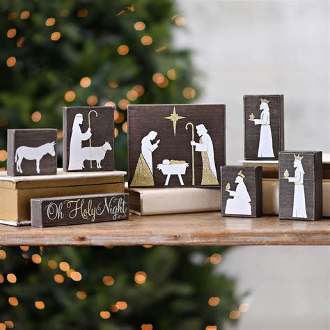 Diy Wood Block Nativity