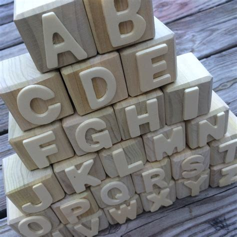 Diy Wood Blocks With Letters