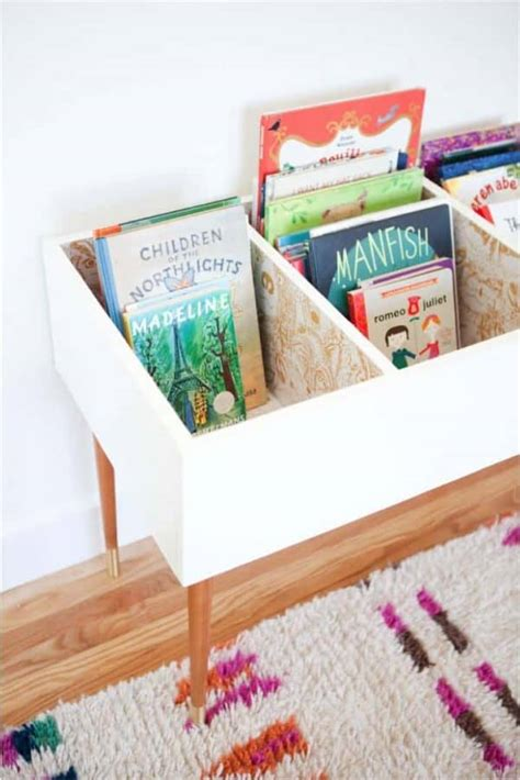 Diy Wood Book Bin