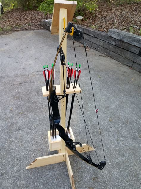 Diy Wood Bow Stand With Guard