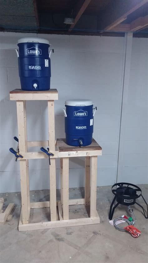 Diy Wood Brew Stand Design