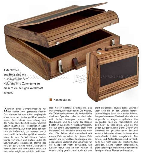 Diy Wood Briefcase Plans