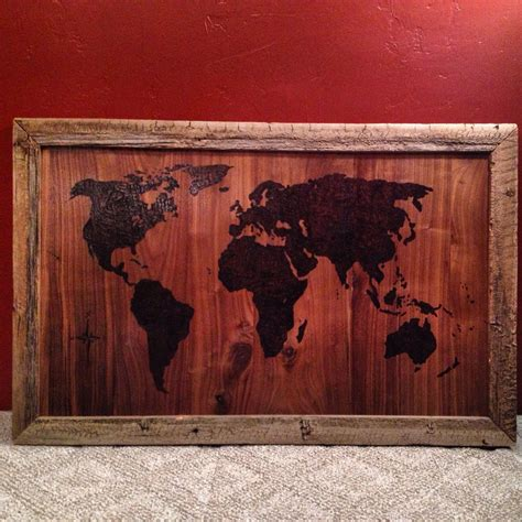 Diy Wood Burning Map Onto Wood