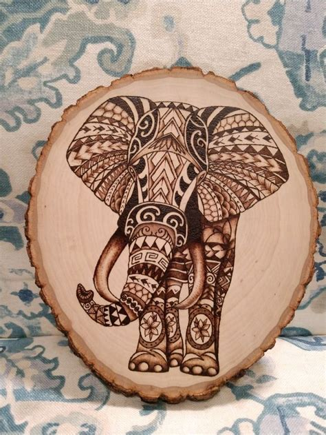 Diy Wood Burning Projects Of Elephants