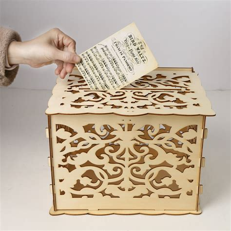 Diy Wood Card Box Wedding