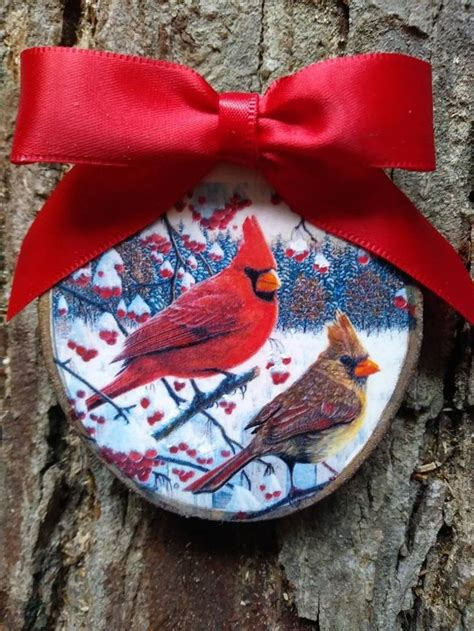 Diy Wood Cardinal Ornaments Personalized
