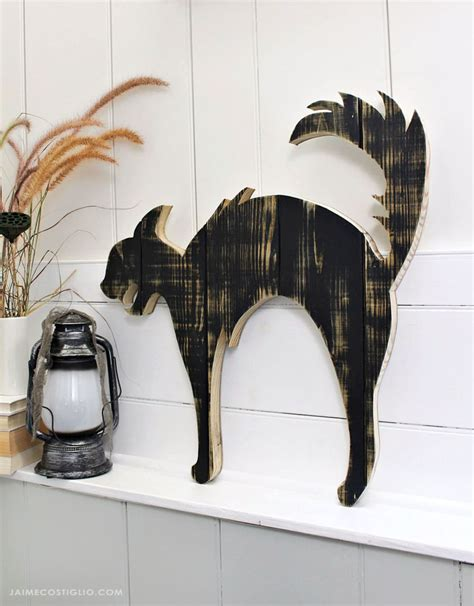 Diy Wood Cat Silhouette Patterns
