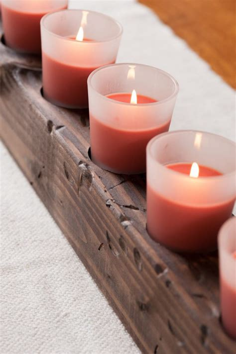 Diy Wood Centerpieces With Candles
