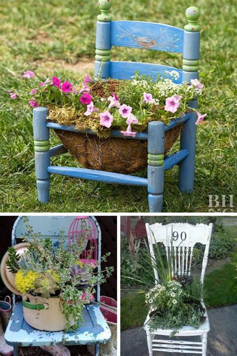 Diy Wood Chair Planters