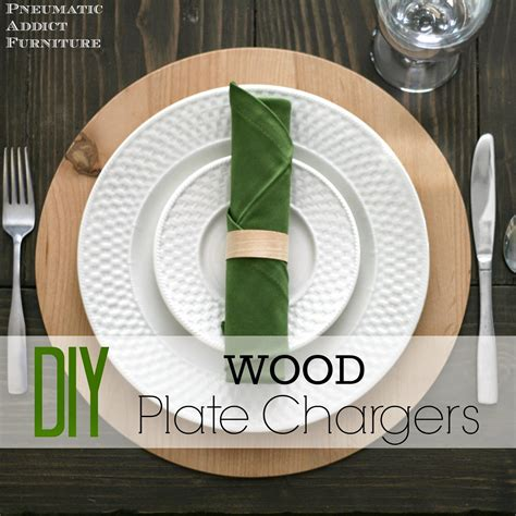 Diy Wood Charger Plates