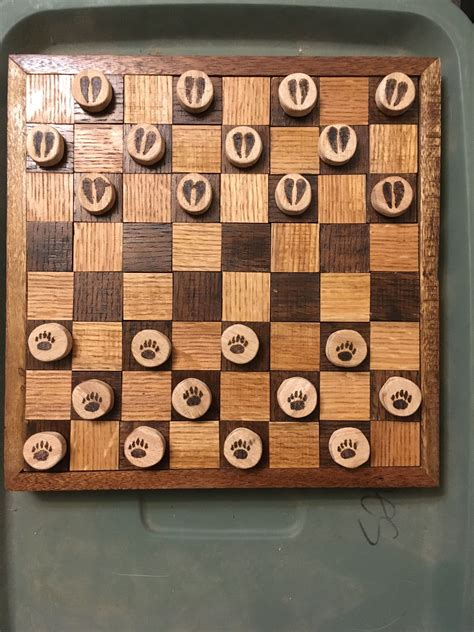 Diy Wood Checker Board Game