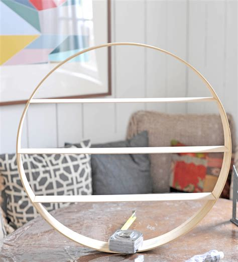 Diy Wood Circle Shelf