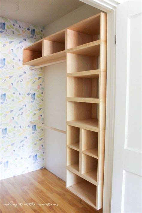 Diy Wood Closet Shelves And Hanger
