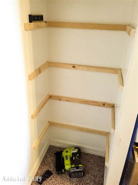 Diy Wood Closet Shelves Cleats Football