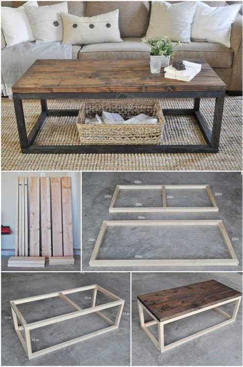 Diy Wood Coffee Table Pinterest Home