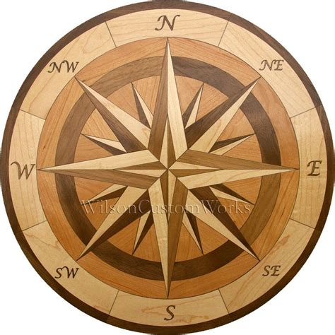 Diy Wood Compass Inlay