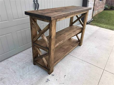 Diy Wood Console Table Plans