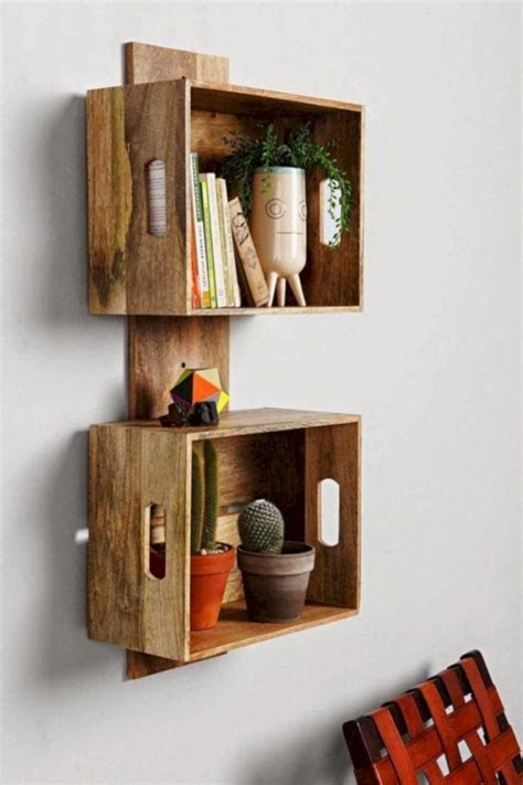 Diy Wood Crate Bookshelf No Screws Shelf