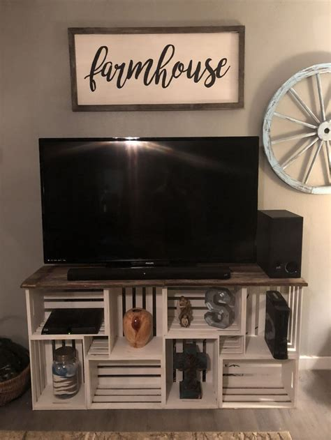 Diy Wood Crate Tv Stand Ps4 Slim