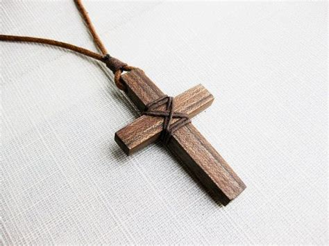 Diy Wood Cross Necklace
