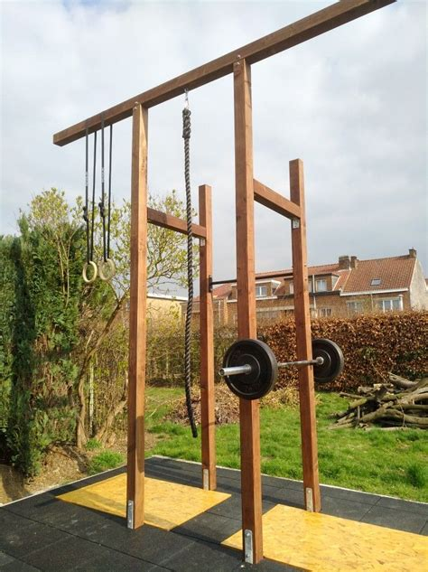 Diy Wood Crossfit Rig Outdoor