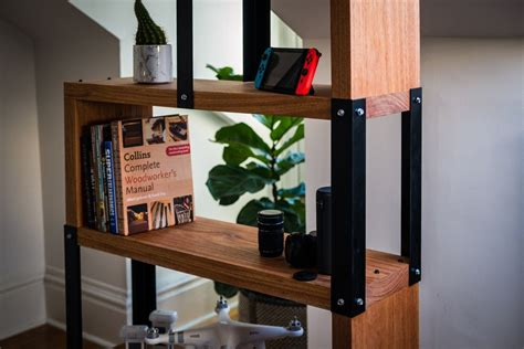 Diy Wood Cube Bookshelf Industrial