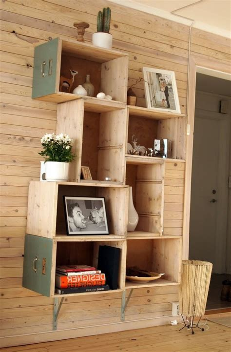 Diy Wood Cube Bookshelf Pinterest