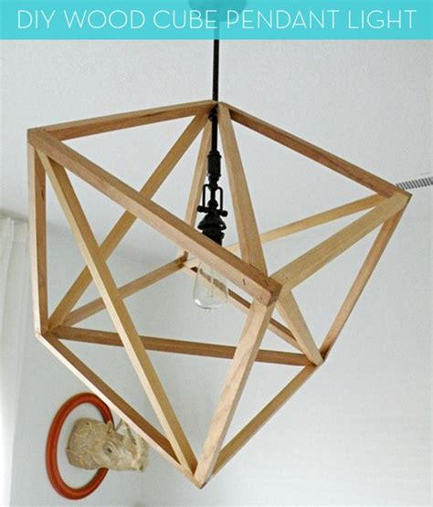 Diy Wood Cube Pendant Light