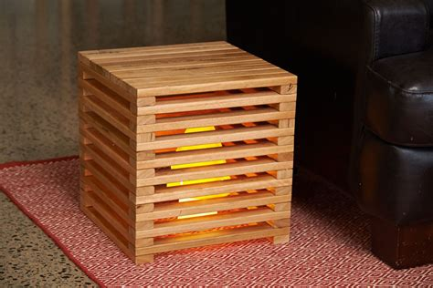 Diy Wood Cube Stool Chair