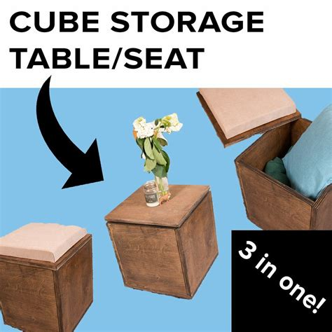 Diy Wood Cube Stool Seating